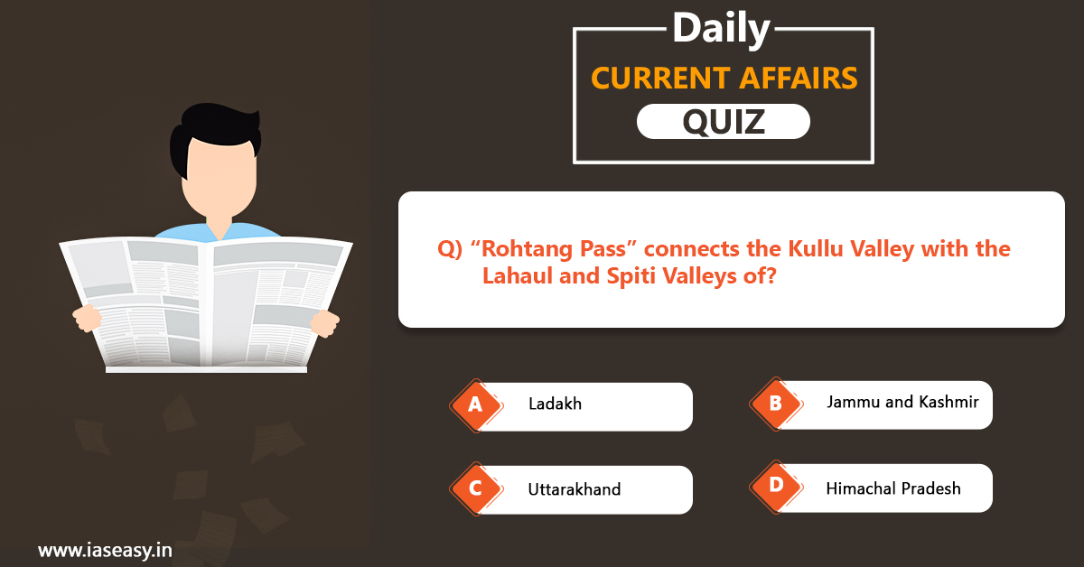 Today's Current Affairs Quiz for UPSC Exams